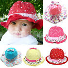 Baby Girls Toddlers Floral Flowers Cotton Polka Dots Summer Sun Beach Hat Bucket
