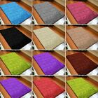 New Small& Large Plain Soft Shaggy Rug Nonshed Modern Room Home Carpet Floor Mat