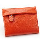 lady mini wallet soft leather coin money purse id card holder zip bifold