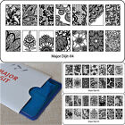 Nail Art Stamp Template Stencil Konad Image DIY Plate Beautiful Lace Flower MJD