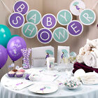 SHOWERED WITH LOVE- Baby Shower Decorations,Tableware,Games Unisex Boy Girl Mum
