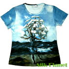SALVADOR DALI Ship El barco SURREALISM TOP T SHIRT FINE ART PRINT PAINTING