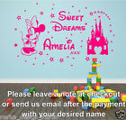 WALL QUOTES MINIE MOUSE WALL DECAL STICKERS  sweet dreams princess   N129