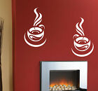 WALL STICKER 2 TEA COFFEE CUP STICKERS  KITCHEN WALL DECAL STICKERS  N68