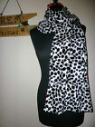 CRUELLA DE VILLE DALMATION 101 DOG SCARF SHAWL WRAP BRIDAL FANCY DRESS NEW
