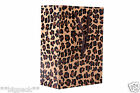 LUXURY LEOPARD BOUTIQUE RETAIL PAPER BAGS WITH STRING HANDLES-RECYCLABLE GIFT