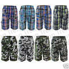 Boys Camouflage Shorts Multipocket Camo Army Check Combat Shorts Kids 3-13