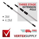 Three Stage Extension Pole Window Cleaning Professional Aluminium Professional