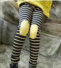 Fashion girl's Kids Children Patch striped leggings pants  Clothes Size 2-6Y New