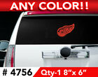 "DETROIT RED WINGS LOGO LARGE DECAL STICKER 8"" x 6"" Any 1 Color $8.99 USD on eBay"