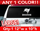 "TAMPA BAY BUCCANEERS WORD / FLAG LOGO DECAL STICKER 12""w x 10""h ANY 1 COLOR $12.99 USD on eBay"
