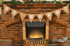 Bespoke Be Merry Christmas Hanging Bunting Hessian Garland Burlap Home Fireplace