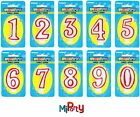 Number Candle Birthday Party Cake Topper All Ages Boy Girl Red and White 0 to 9