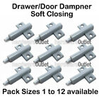 Door Drawer Cupboard Damper Soft Closing B5450 - stop trapped fingers inc screws