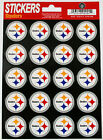 Pittsburgh STEELERS LOGO STICKERS - HELMET STICKERS - sheet of 20 stickers
