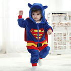 Flannel Baby Animal Costume Toddlers Fancy Dress Romper Jumpsuit Coverall