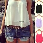 Summer Sexy Women Candy Color Spaghetti Shirt Chiffon Blouse Strap Top Vest LM