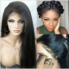 Soft silk straight 100% India Remy Human Hair Full/Lace Front Wig with baby hair
