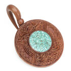 price of hangers - Saba Wood Window of Life Hanger with Crushed Turquoise 3mm - 12mm - Price Per 1