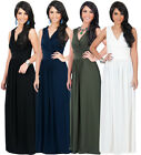 NEW Womens Sleeveless Cross Over Plus Size Long Maxi Dress XS S M L XL 2X
