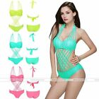 Womens One Piece High Cut Bandage Monokini Backless Bathing Suit Swimwear