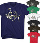 ★Herren T-Shirt Fish Skull Bones Vintage Comic Movie Casual Look Neu FB13315★
