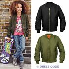 Kids Retro Girls MA1 Flight Classic Bomber Biker Vintage Jacket Ages 7-13
