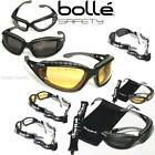 New BOLLE Tracker Sports Military Safety Goggles Sunglasses 100% UV + Extras