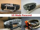 Survival Paracord Bracelet wristband w/550lb US made cord various design & color