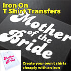 Mother of the Bride Hen Party Wedding Iron On Transfer Create your own t shirt