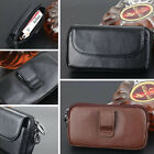 Genuine Leather Classic Men Universal Bag Belt Clip Case For iPhone/Samsung