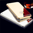 Luxury Back Mirror Electroplating Soft Clear TPU Cases For iPhone 6,6 Plus