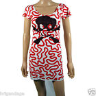women's Squiggle skull pirate tee dress  S - XL