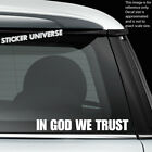 IN GOD WE TRUST 3-PK Religious Religion Christian Jesus Car Window Decal Sticker