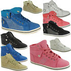 SALE! LADIES WOMENS FLAT DIAMANTE LACE UP TRAINERS PLIMSOLLS PUMPS SHOES SIZE