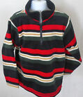 Gymboree Boy's Snow Chillin Striped 1/2 Zipper Fleece Shirt Size XS(3-4)