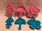 Umbrella Horseshoe Fire Hydrant Fire Truck Fondant Cookie Cutter and Stamp