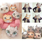 New Chic 3D Cute Cat Face Throw Pillow  Home Decorative Cushion Cover Square