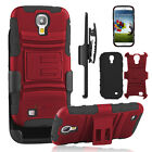 Hybrid Shockproof Belt Clip Stand Case Cover for Samsung Galaxy S4 SCH-I545