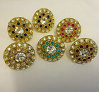 HUGE BLING RING CRYSTALS BOLLYWOOD INDIAN STATEMENT ADJUSTABLE SILVER SPARKLY