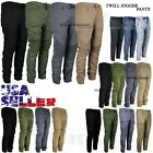 Mens Twill Jogger Pants Casual Stretch Harem Hip Hop Slim Drop Crotch Trousers