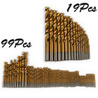 HSS Titanium Ti coated Angle Iron Metal Wood Twist Drill Bit Set 19 / 99pcs