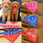 Adjustable Pet Dog Cat Puppy Neckerchief Neck Scarf Bandana with Leather Collar