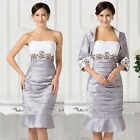 Mother of the Bride / Groom Outfit Dress Wedding Bridesamids Prom Party Ballgown