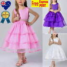 New Pearl Layers Flower Girl Dress Vintage Birthday Party Wedding Girl Dress