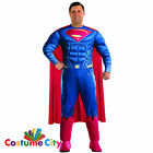 Adults Mens Deluxe Padded Dawn Of Justice Superman Fancy Dress Party Costume