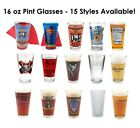 16 oz Pint Glasses YOUR CHOICE - Rogue Stone Brewery Duff Arrogant Bastard Beer
