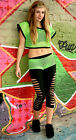 Funki-B ANY COLOURS Slouch 4pc leggings dancewear street hip hop freestyle neon
