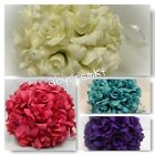 12 inch Rose Kissing Ball Silk Flowers, POMANDER Artificial Wedding Arrangements