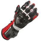 Spada Curve Leather Sport Race Motorcycle Gloves Black/Red